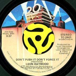画像1: LEON HAYWOOD / DON'T PUSH IT DON'T FORCE IT (45's) (1)