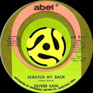画像1: OLIVER SAIN / SCRATCH MY BACK (45's) (1)