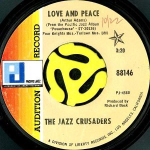 画像1: THE JAZZ CRUSADERS / LOVE AND PEACE b/w HEY JUDE (45's) (PROMO) (1)