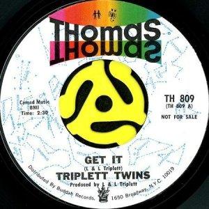 画像1: TRIPLETT TWINS / GET IT (45's) (PROMO) (1)