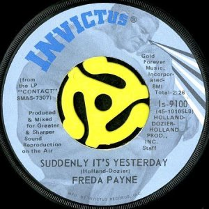 画像1: FREDA PAYNE / SUDDENLY IT'S YESTERDAY (45's) (1)