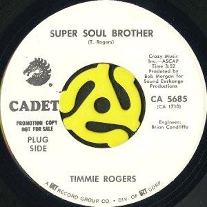 画像1: TIMMIE ROGERS / SUPER SOUL BROTHER (45's) (WHITE PROMO) (1)