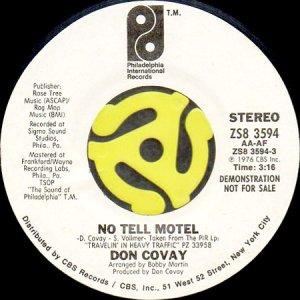 画像1: DON COVAY / NO TELL MOTEL (45's) (WHITE PROMO) (1)