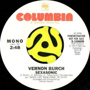 画像1: VERNON BURCH / SEXASONIC (45's) (WHITE PROMO) (1)