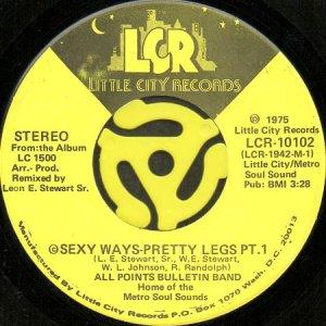 画像1: ALL POINTS BULLETIN BAND / SEXY WAYS-PRETTY LEGS (45's) (1)
