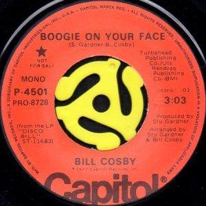 画像1: BILL COSBY / BOOGIE ON YOUR FACE (45's) (PROMO) (1)