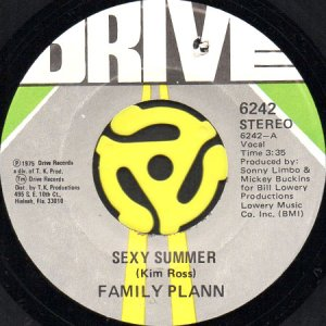 画像1: FAMILY PLANN / SEXY SUMMER b/w CAN YOU GET INTO THE MUSIC (45's) (1)