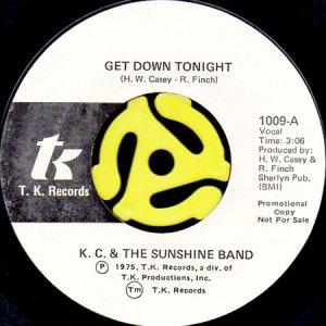 画像1: KC & THE SUNSHINE BAND / GET DOWN TONIGHT (45's) (WHITE PROMO) (1)