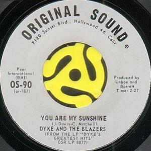 画像1: DYKE AND THE BLAZERS / YOU ARE MY SUNSHINE (45's) (1)