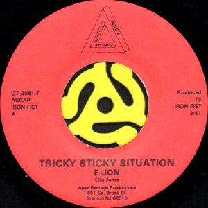 画像1: E-JON / TRICKY STICKY SITUATION b/w FREAK ROCK (SHAKE YOUR BOOTY) (45's) (1)