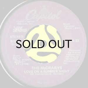 画像1: THE McCRARYS / LOVE ON A SUMMER NIGHT (45's) (1)