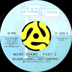 画像1: SELDON POWELL AND COMPANY / MORE SHAME (45's) (1)