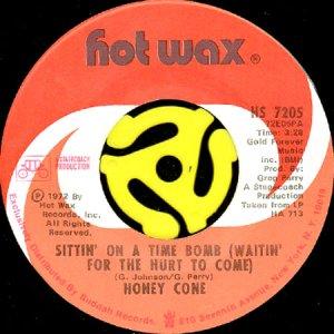 画像1: HONEY CONE / SITTIN' ON A TIME BOMB (45's) (1)