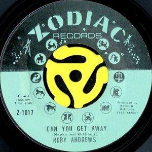 画像1: RUBY ANDREWS / CAN YOU GET AWAY b/w EVERYBODY SAW YOU (45's) (1)