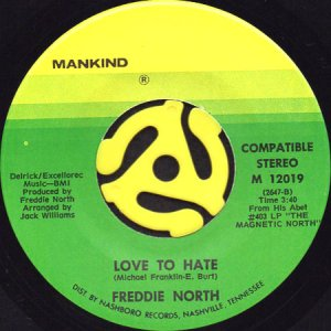 画像1: FREDDIE NORTH / LOVE TO HATE (45's) (1)