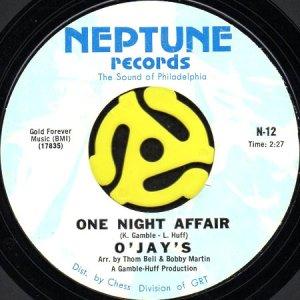 画像1: O'JAYS / ONE NIGHT AFFAIR b/w THERE'S SOMEONE (45's) (1)