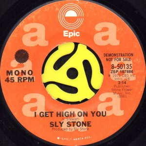 画像1: SLY STONE / I GET HIGH ON YOU (45's) (PROMO) (1)