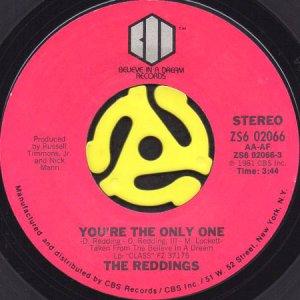 画像1: THE REDDINGS / YOU'RE THE ONLY ONE (45's) (1)
