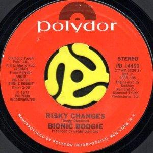 画像1: BIONIC BOOGIE / RISKY CHANGES (45's) (1)