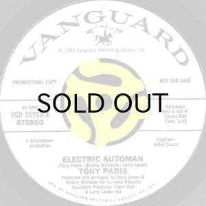 画像1: TONY PARIS / ELECTRIC AUTOMAN (45's) (WHITE PROMO) (1)