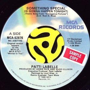 画像1: PATTI LABELLE / SOMETHING SPECIAL (IS GONNA HAPPEN TONIGHT) (45's) (1)
