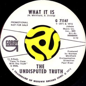 画像1: THE UNDISPUTED TRUTH / WHAT IT IS (45's) (WHITE PROMO) (1)