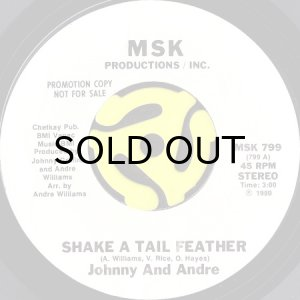 画像1: JOHNNY AND ANDRE / SHAKE A TAIL FEATHER b/w TIE ONE ON TONIGHT (45's) (WHITE PROMO) (1)