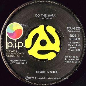 画像1: HEART & SOUL / DO THE WALK b/w YOU GOT ME GOING (45's) (1)