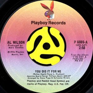 画像1: AL WILSON / YOU DID IT FOR ME b/w DIFFERENTLY (45's) (1)