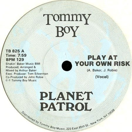 planet patrol play at your own risk breakwell records