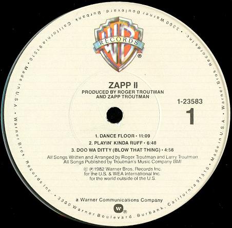 Zapp Ii Breakwell Records