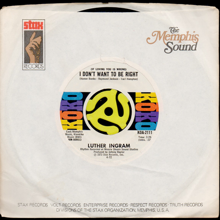 luther ingram if loving you is wrong i don t want to be right b