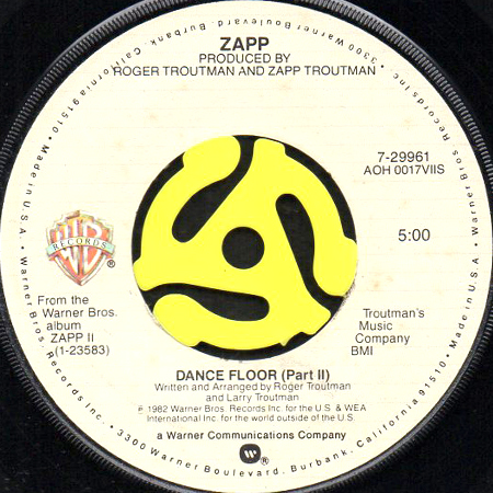 Zapp Dance Floor 45 S Breakwell Records