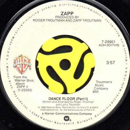 Zapp Dance Floor 45 S Breakwell Records