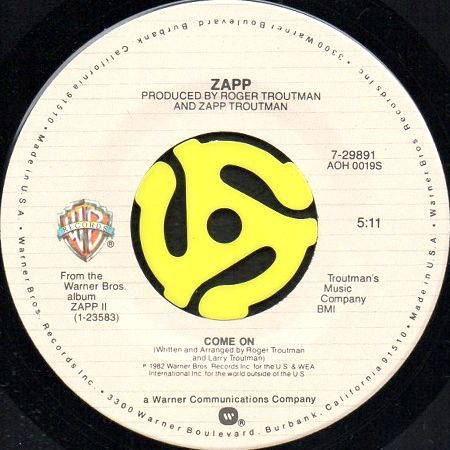 Zapp Doo Wa Ditty Blow That Thing B W Come On 45 S